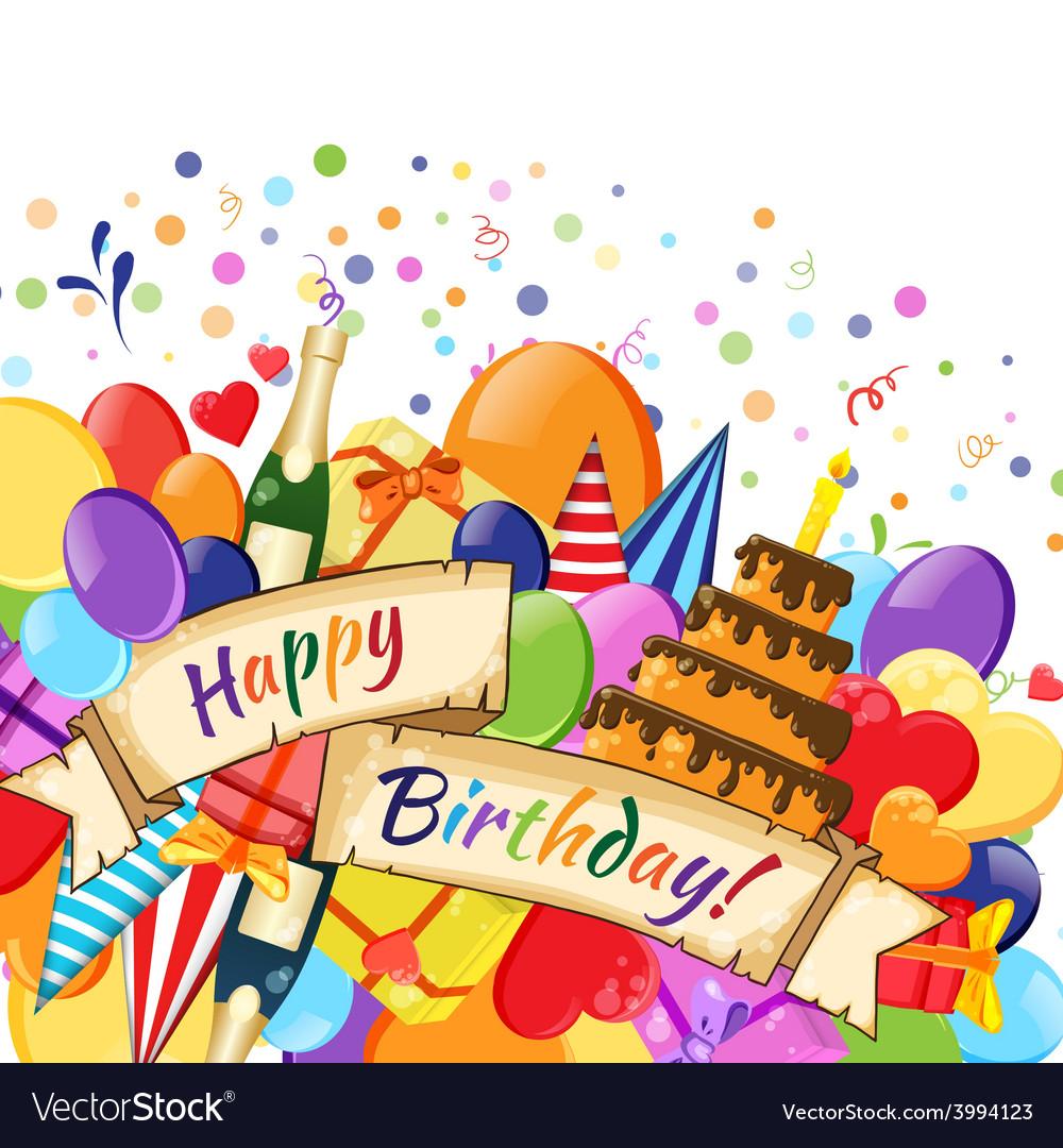 Festive celebration happy birthday background vector | Price: 1 Credit (USD $1)