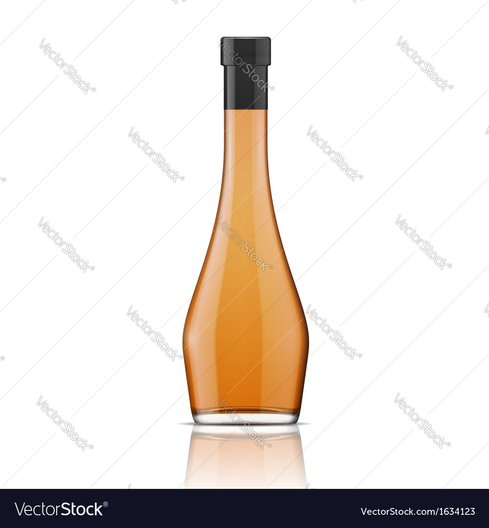 Glass brandy bourbon whiskey cognac bottle vector | Price: 1 Credit (USD $1)