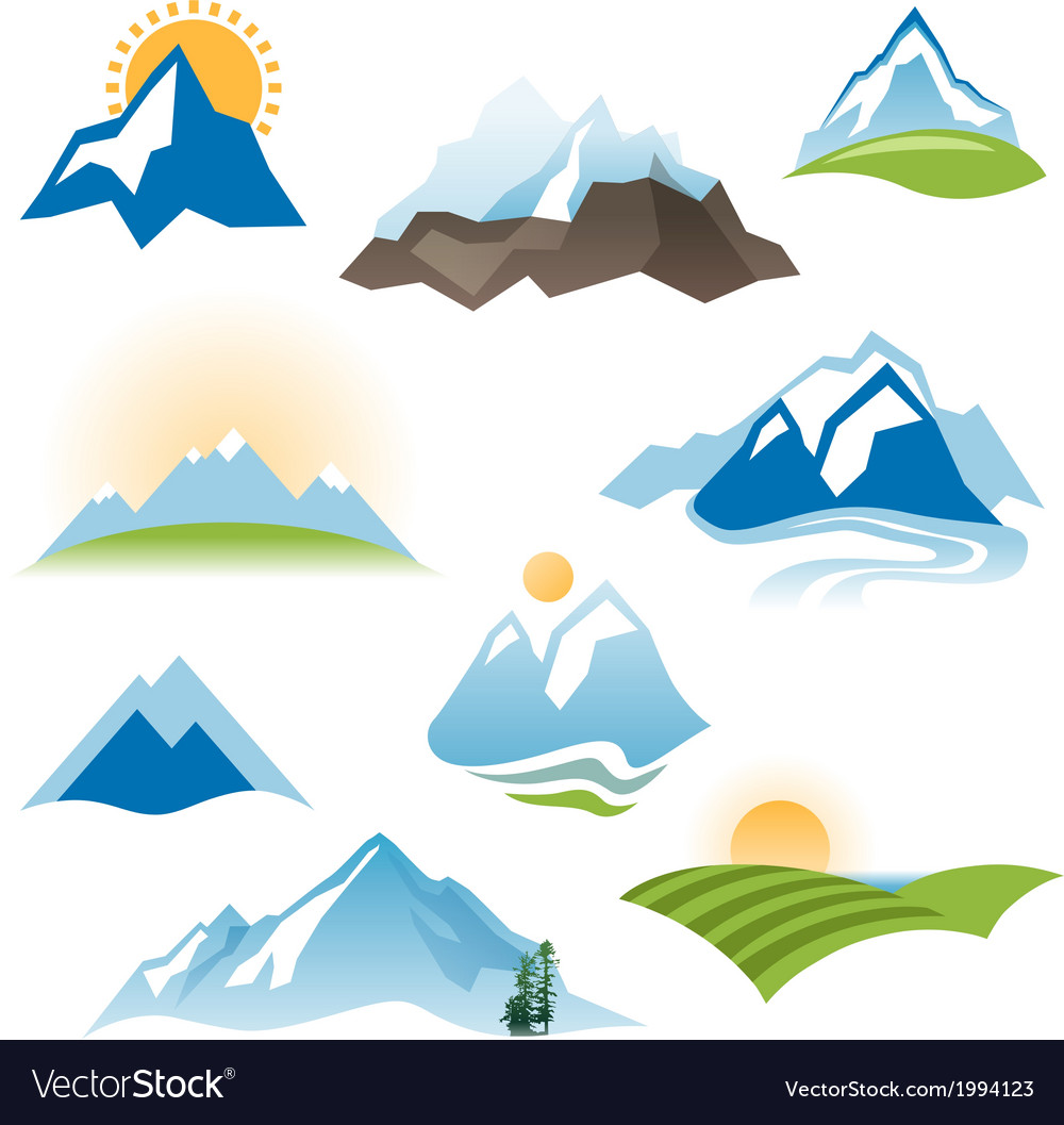 Landscape icons vector | Price: 1 Credit (USD $1)