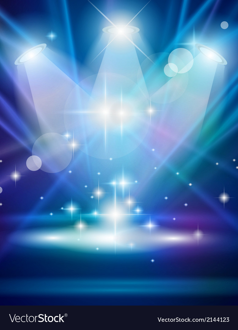 Magic spotlights with blue rays and glowing effect vector | Price: 1 Credit (USD $1)