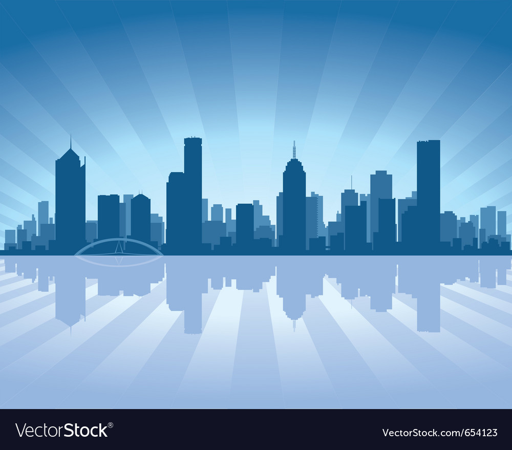 Melbourne skyline vector | Price: 1 Credit (USD $1)