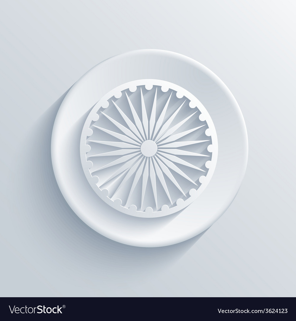 Modern indian republic day circle icon vector   Price: 1 Credit (USD $1)