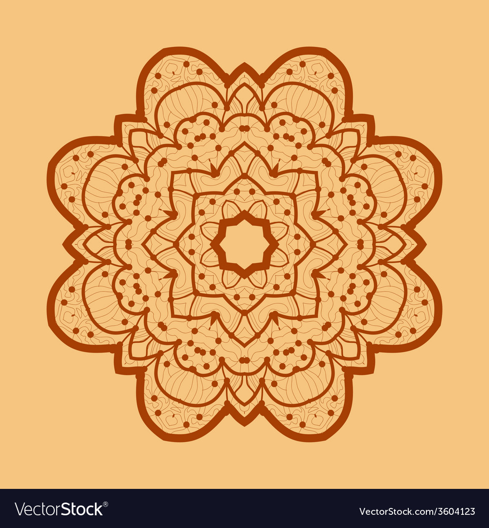 Ornamental outline mandala square flyer card vector | Price: 1 Credit (USD $1)