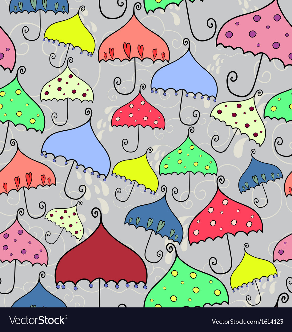 Seamless pattern of fantasy umbrellas vector | Price: 1 Credit (USD $1)