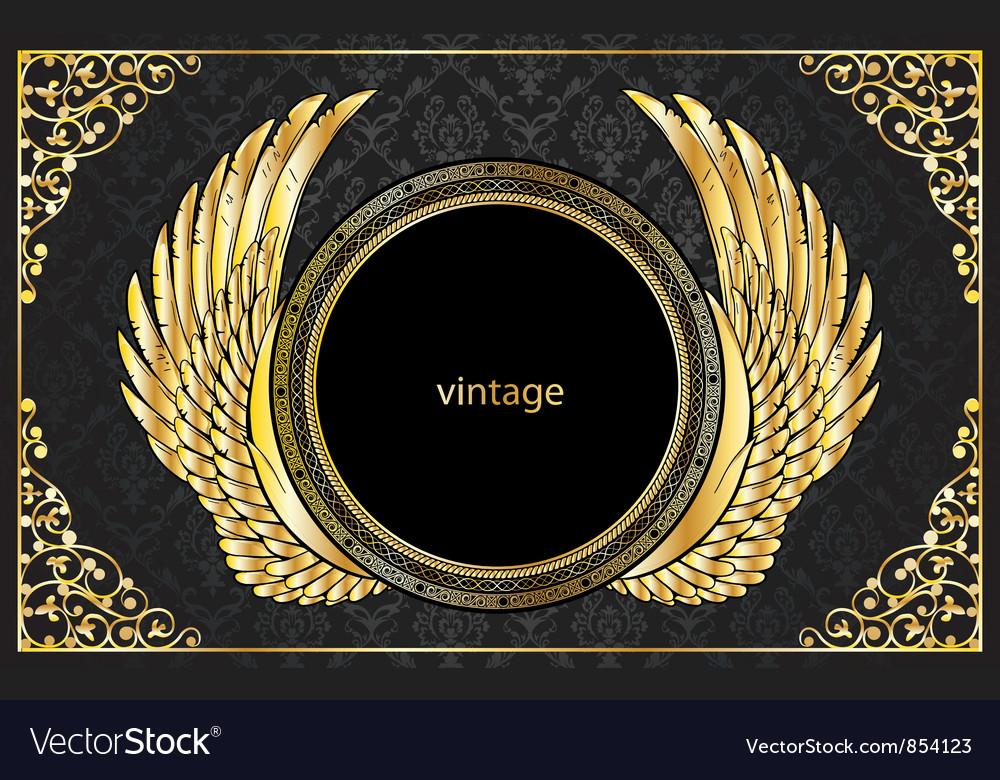 Vintage gold emblem vector | Price: 1 Credit (USD $1)