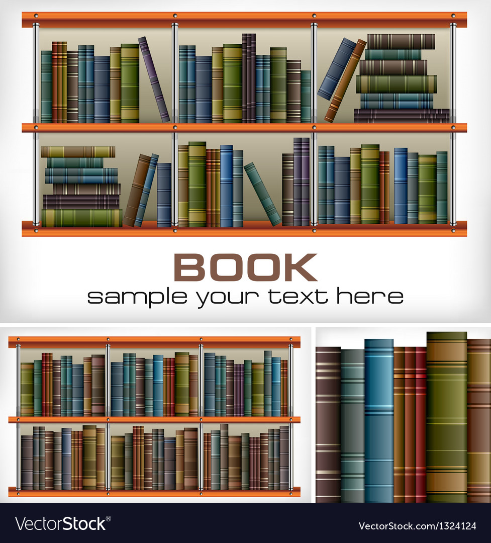 Books on shelves  text vector | Price: 1 Credit (USD $1)
