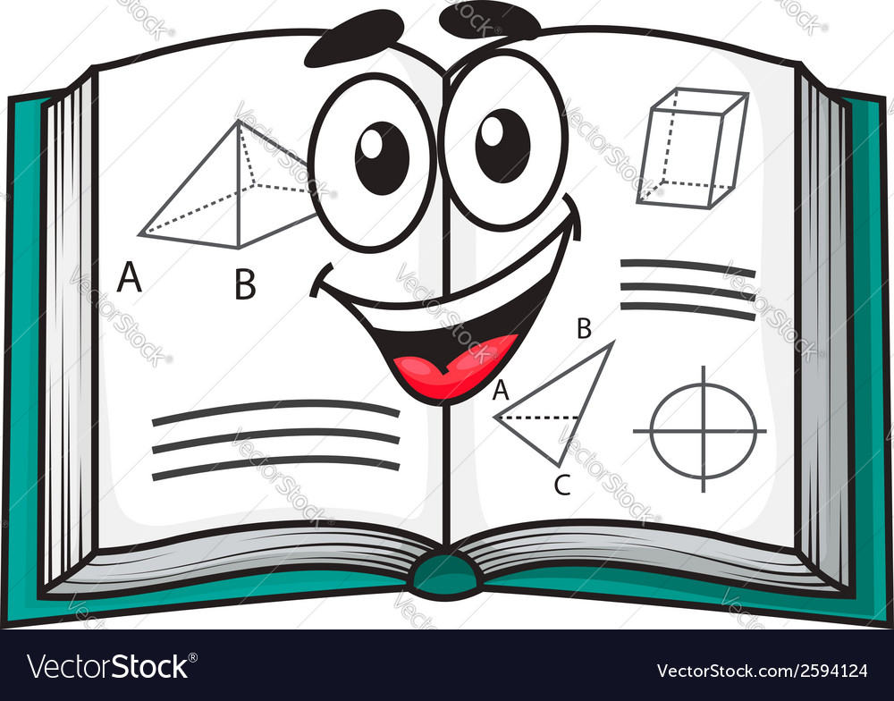 Happy smiling cartoon school textbook vector | Price: 1 Credit (USD $1)