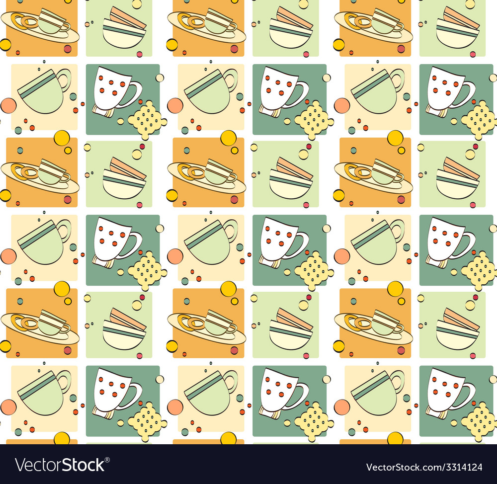 Pattern  breakfast vector