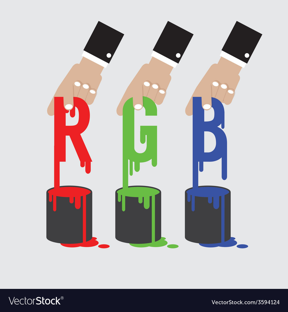 Rgb - red green and blue the additive color model vector | Price: 1 Credit (USD $1)