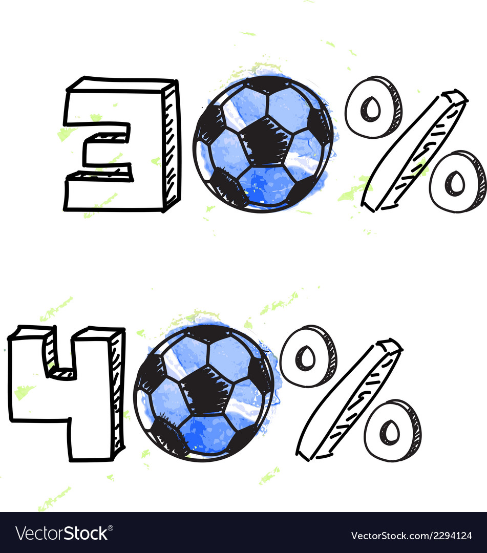 Soccer discount elements vector | Price: 1 Credit (USD $1)