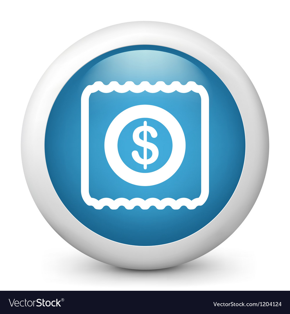 Ticket glossy icon vector | Price: 1 Credit (USD $1)