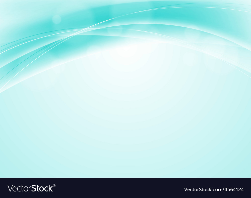 Turquoise blue abstract smooth wavy background vector | Price: 1 Credit (USD $1)