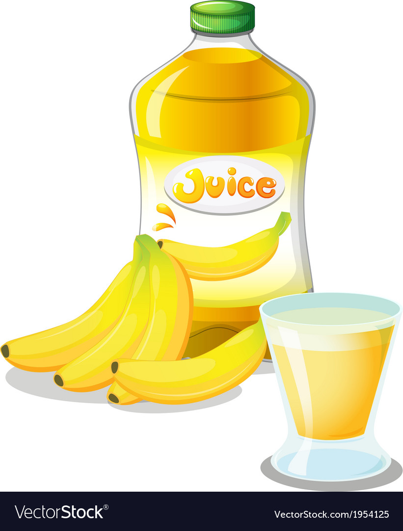 Banana fruit and juice vector | Price: 1 Credit (USD $1)