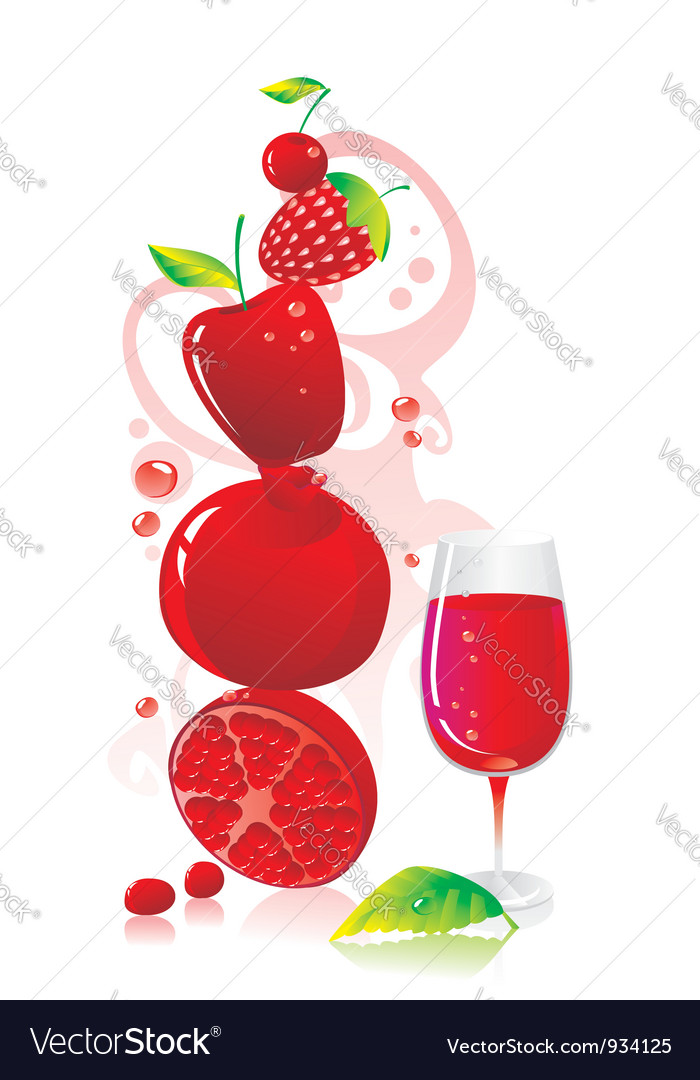 Berry beverage vector | Price: 1 Credit (USD $1)