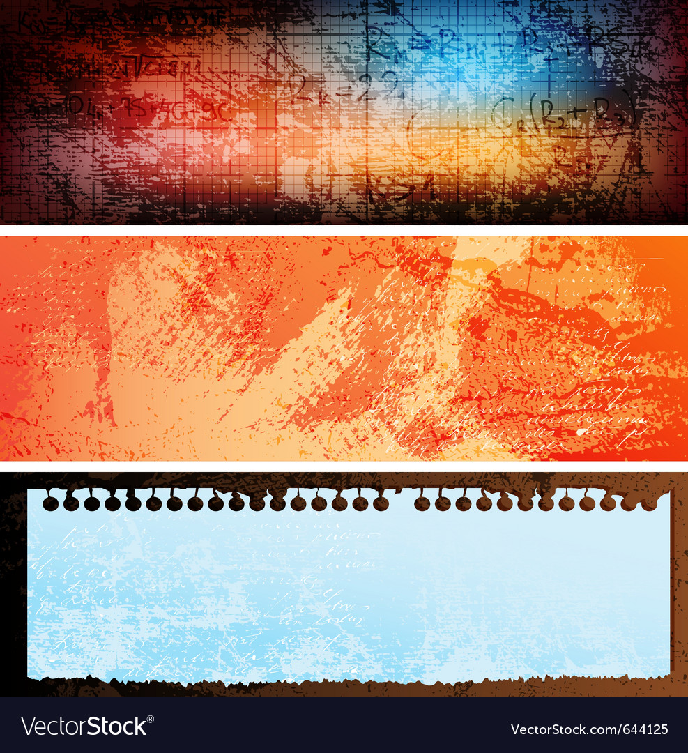 Grungy banners vector   Price: 1 Credit (USD $1)