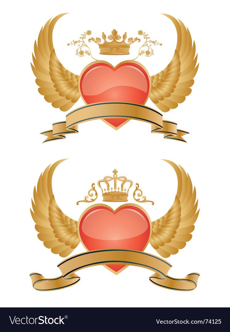 Heraldry hearts vector | Price: 1 Credit (USD $1)