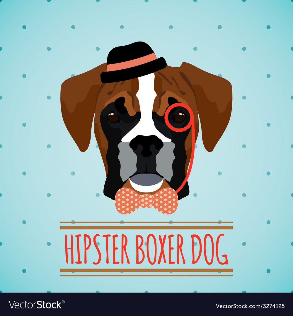Hipster dog portrait vector | Price: 1 Credit (USD $1)