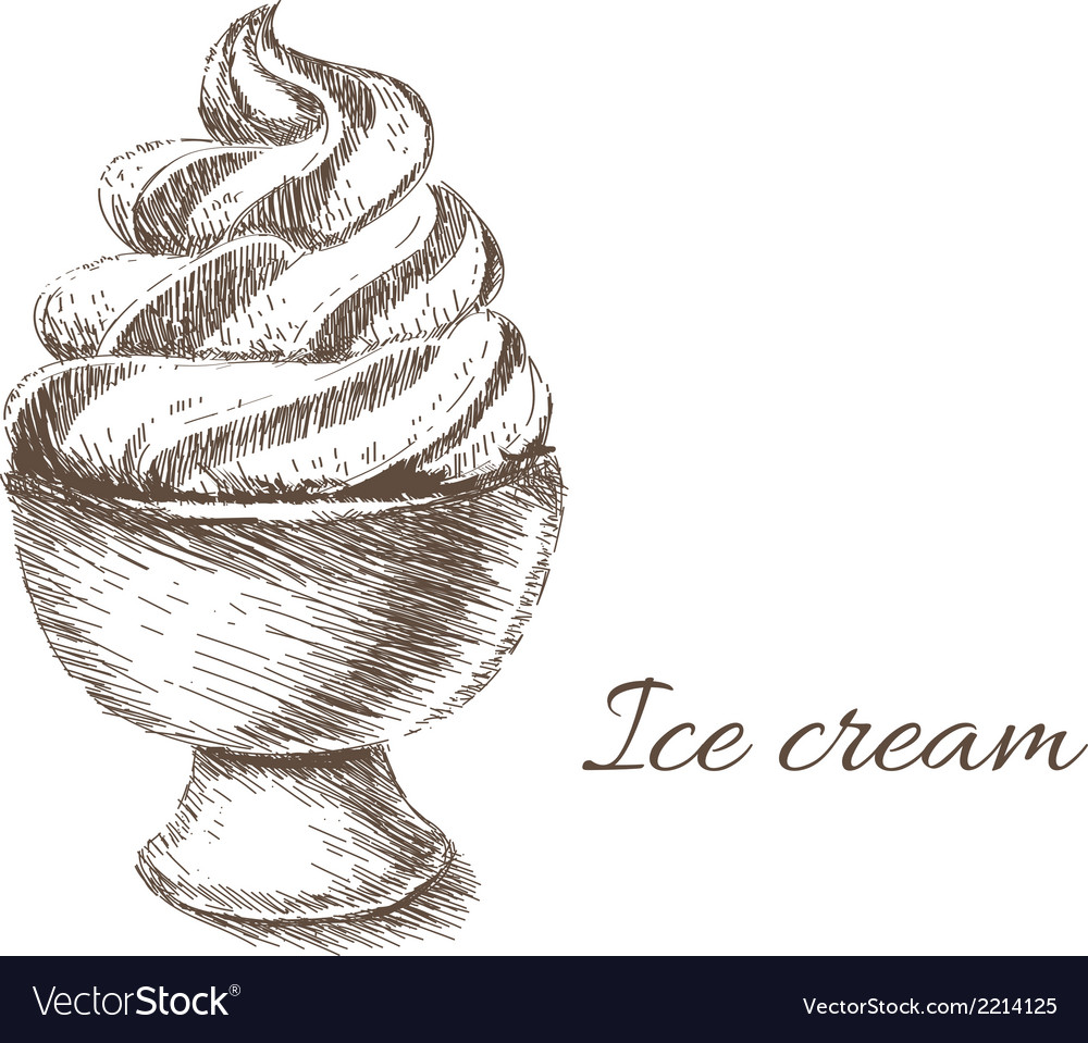Ice cream hand drawn vector | Price: 1 Credit (USD $1)