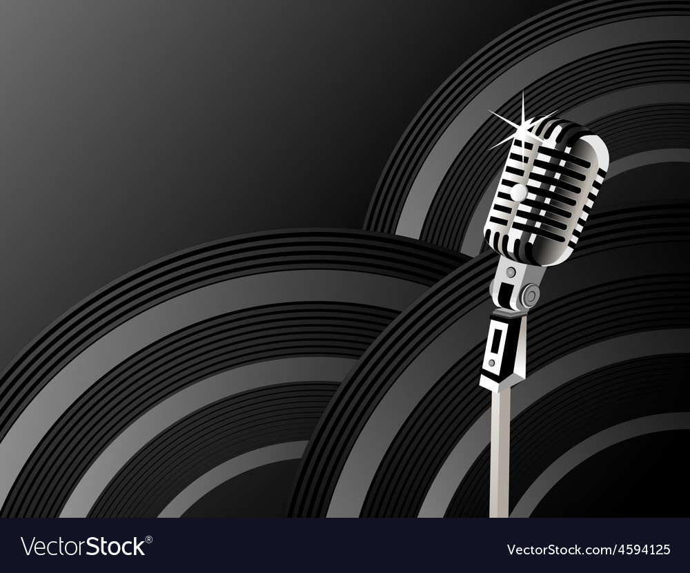 Microphone shining background vector | Price: 1 Credit (USD $1)