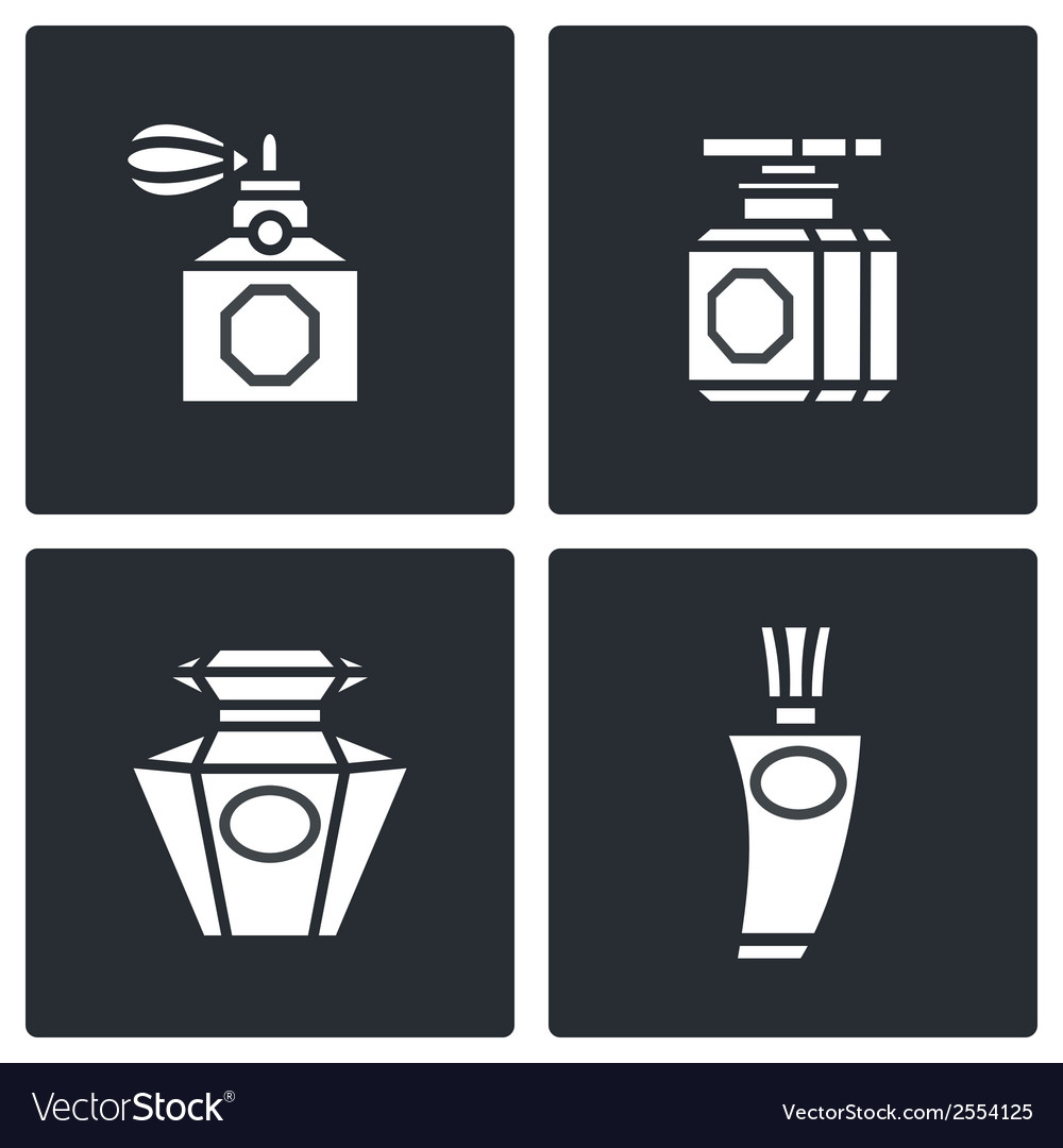 Retro perfume icons set vector | Price: 1 Credit (USD $1)