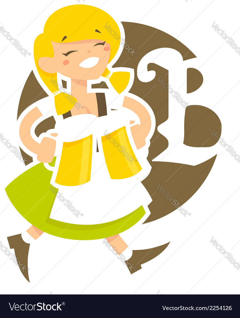 Bavarian girl vector | Price: 1 Credit (USD $1)
