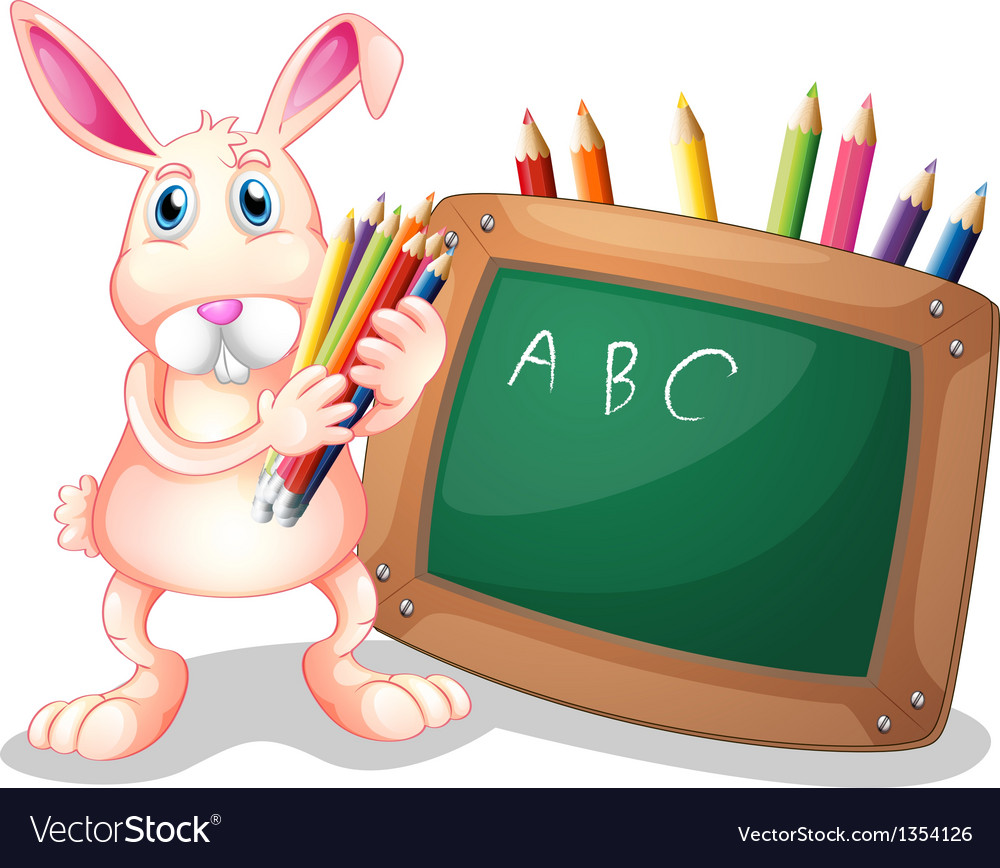Blackboard bunny vector | Price: 1 Credit (USD $1)