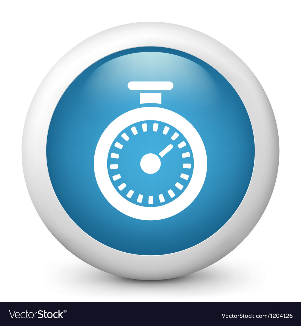 Chronometer glossy icon vector | Price: 1 Credit (USD $1)