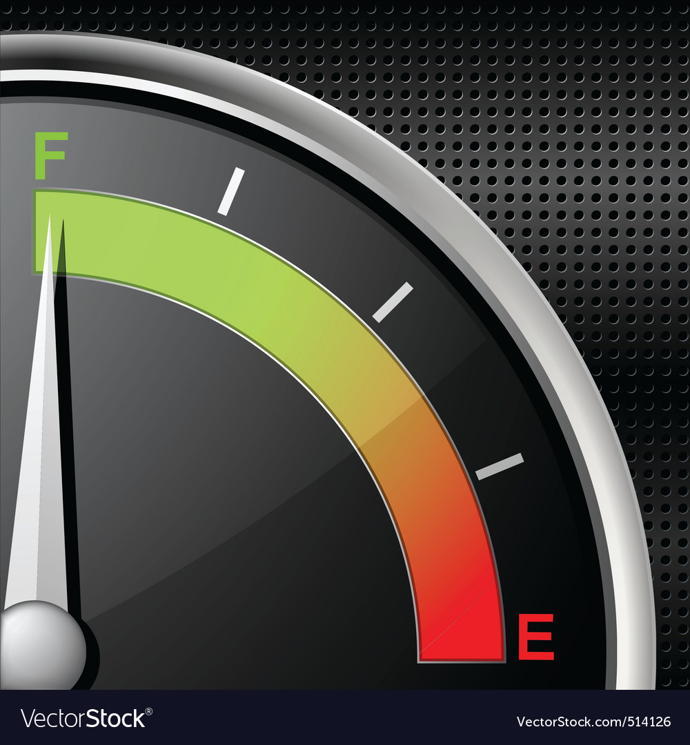 Full fuel gauge vector | Price: 1 Credit (USD $1)