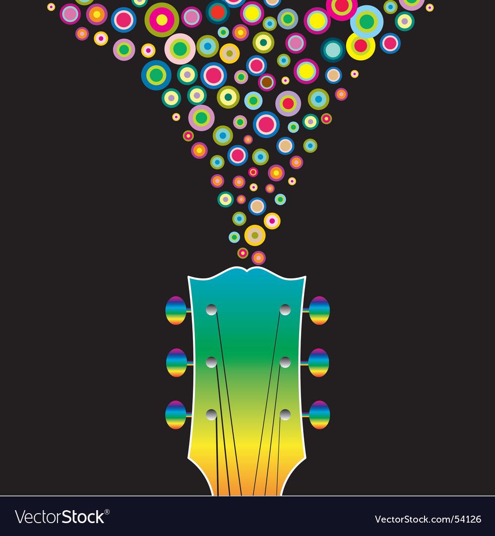Guitar headstock circles vector | Price: 1 Credit (USD $1)