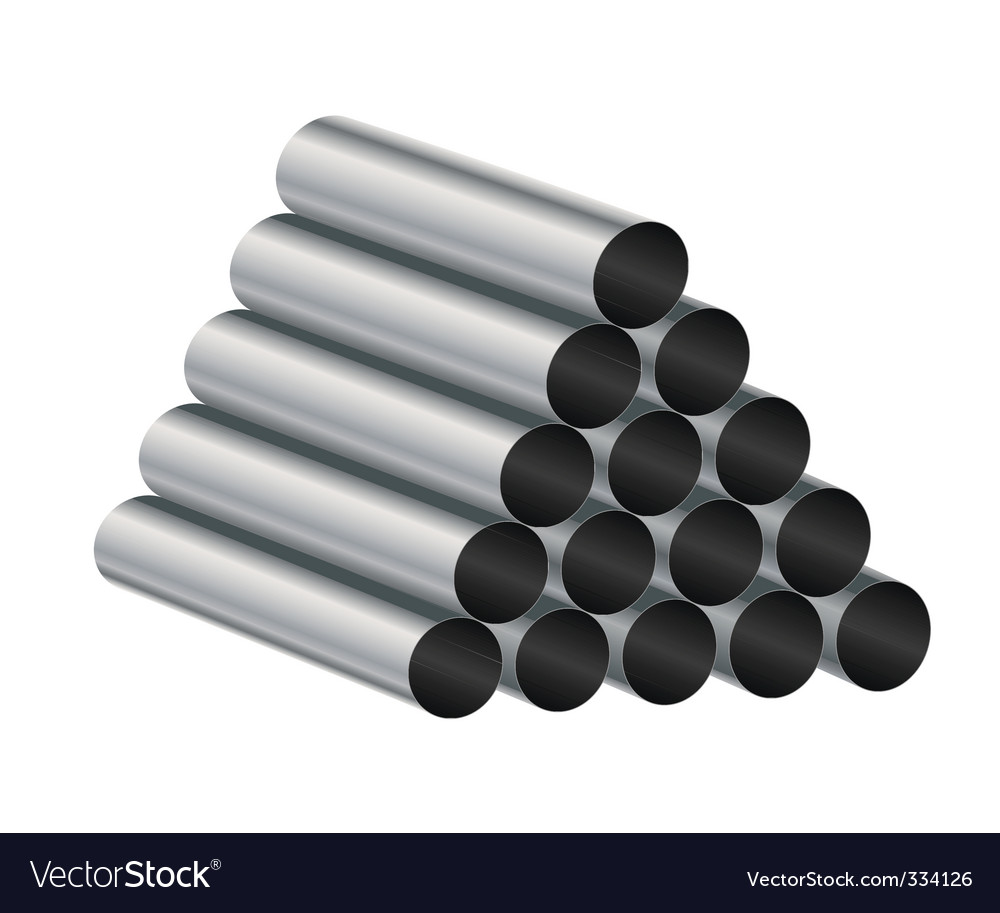 Metal tube vector | Price: 1 Credit (USD $1)