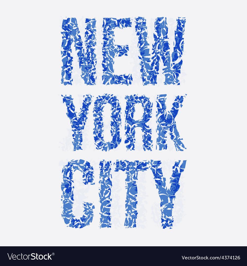 New york typography t-shirt graphics vector | Price: 1 Credit (USD $1)