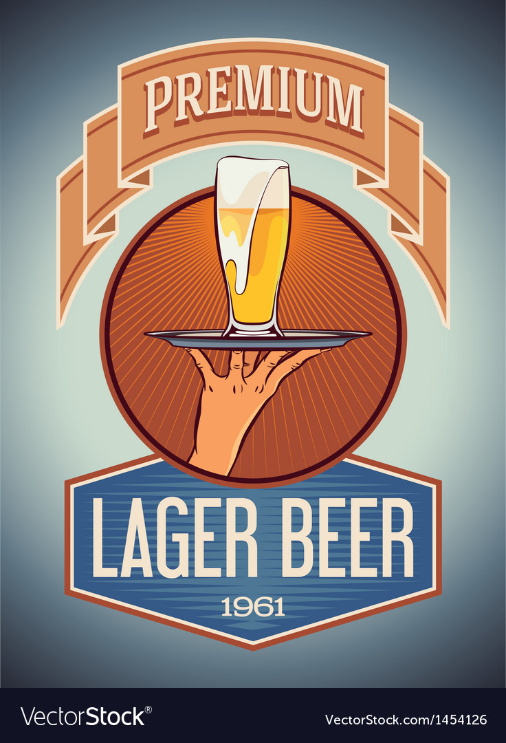 Premium lager beer vector | Price: 1 Credit (USD $1)