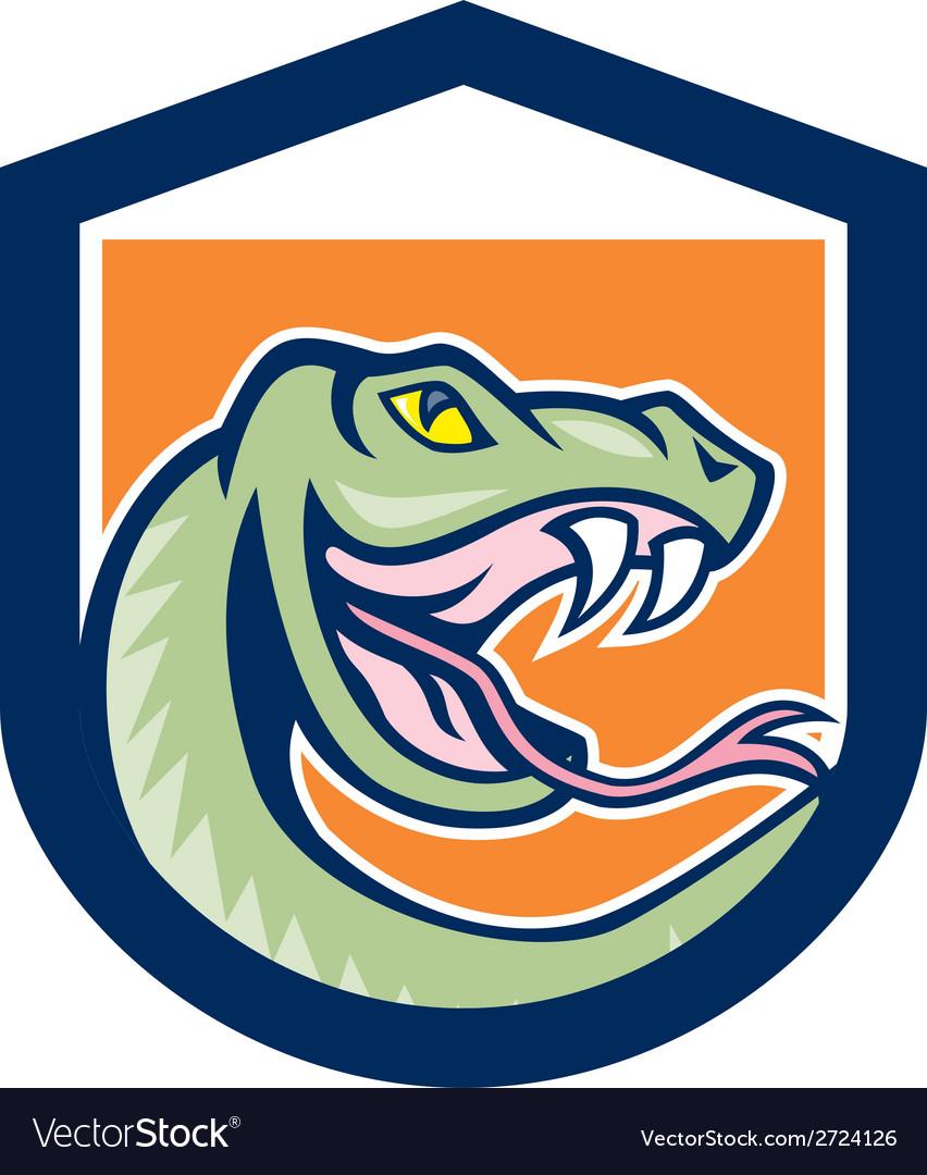 Rattle snake head shield cartoon vector | Price: 1 Credit (USD $1)