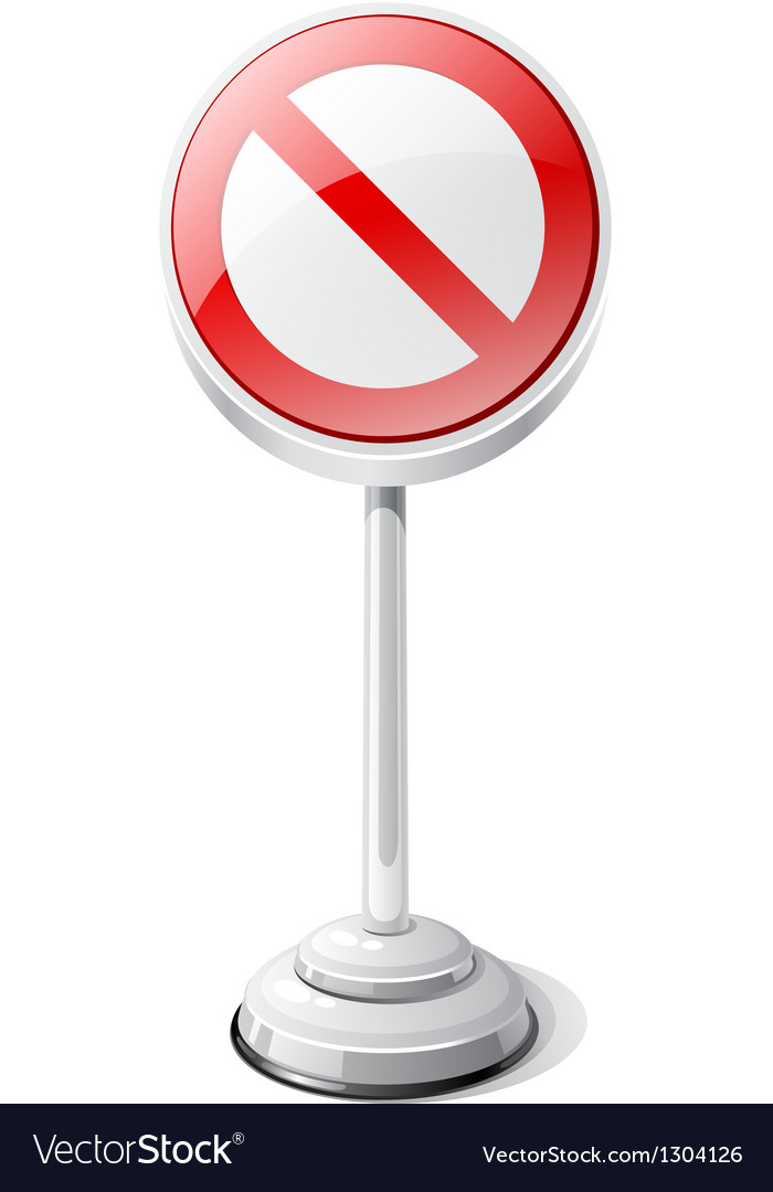 Red forbidden road traffic sign isolated on white vector | Price: 1 Credit (USD $1)