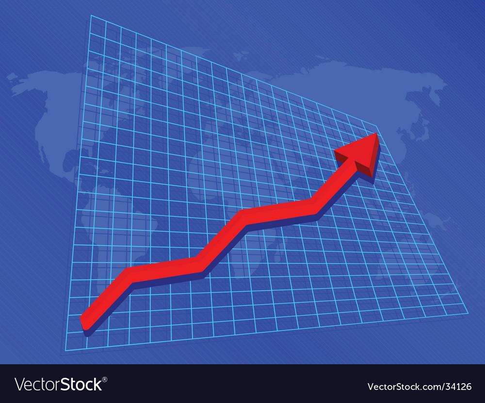 Rising profits vector | Price: 1 Credit (USD $1)