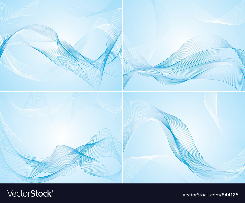 Set of abstract blue backgrounds vector | Price: 1 Credit (USD $1)