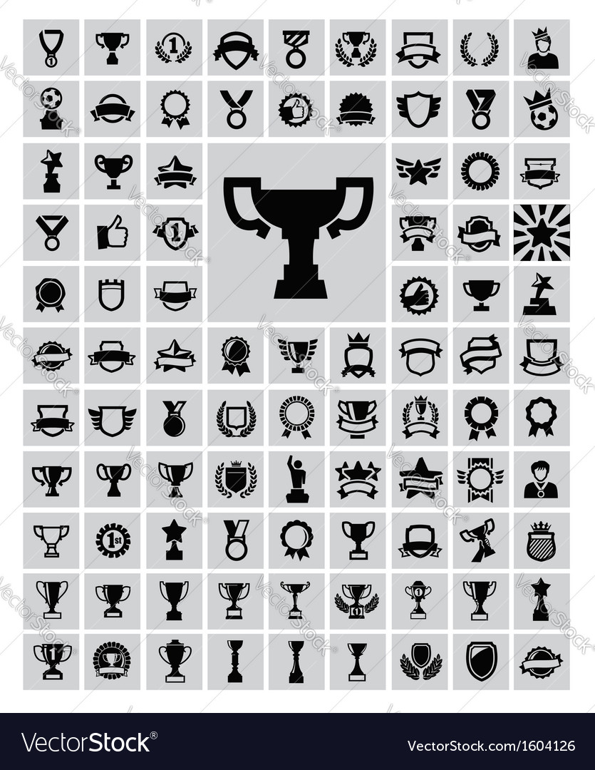 Trophy and awards vector | Price: 1 Credit (USD $1)