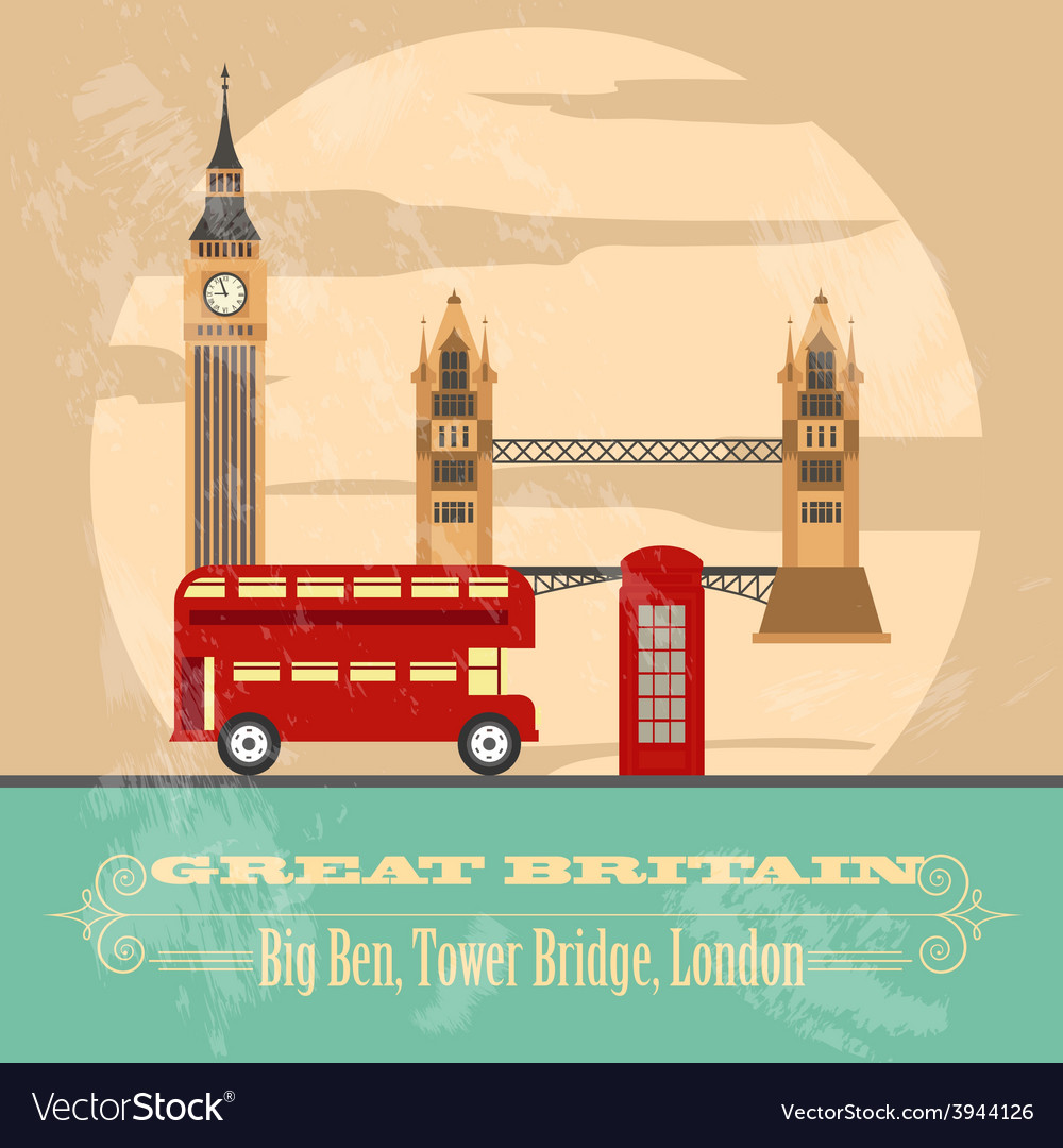 United kingdom of great britain landmarks vector | Price: 1 Credit (USD $1)