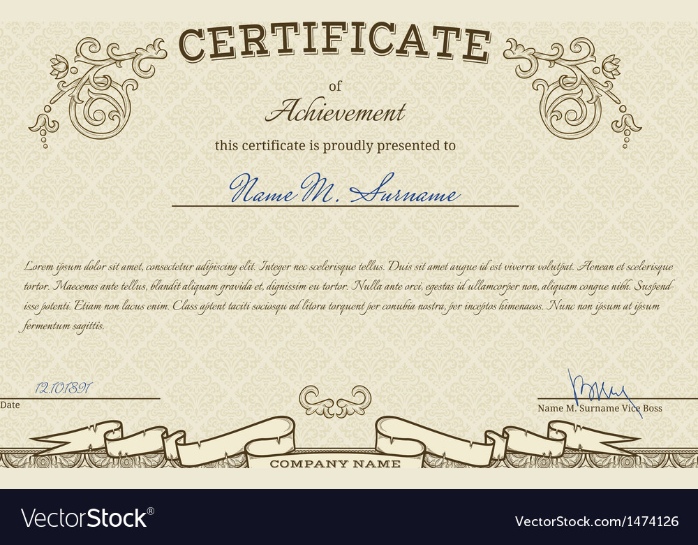 Vintage diploma vector | Price: 1 Credit (USD $1)
