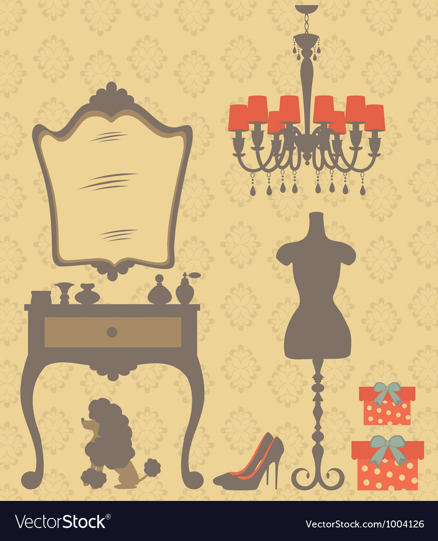 Vintage dressing table vector | Price: 1 Credit (USD $1)