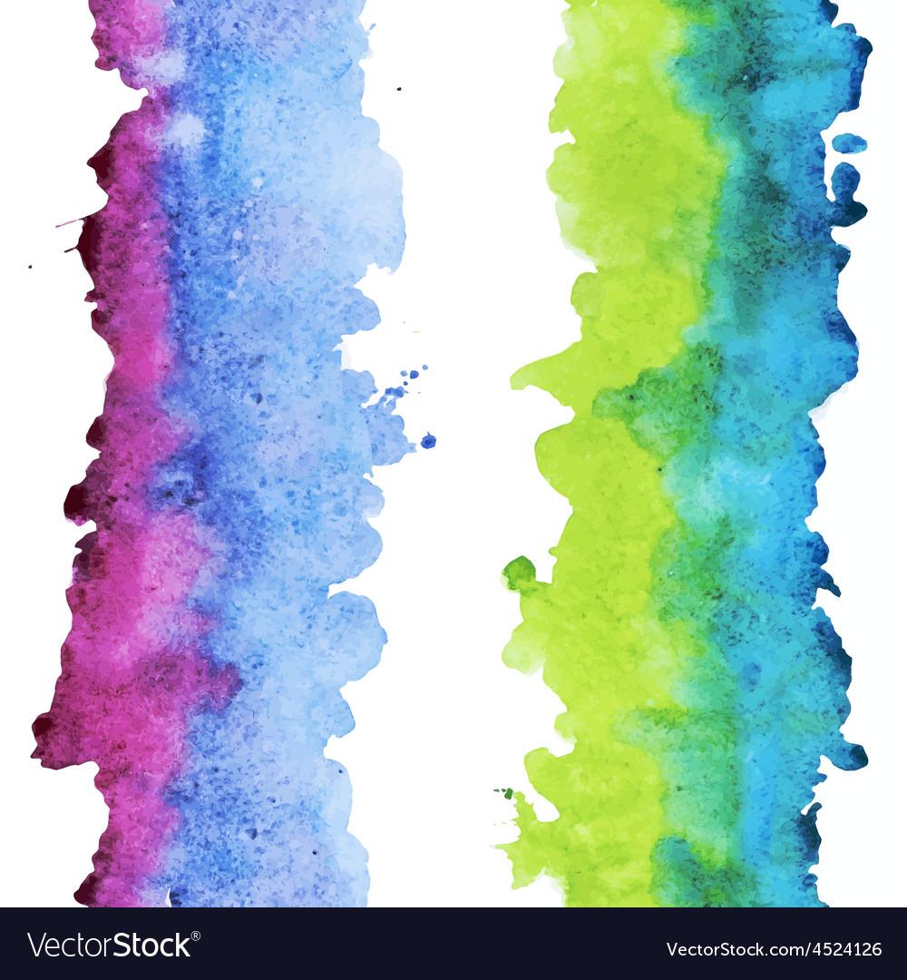 Watercolor colourful stripes vector | Price: 1 Credit (USD $1)
