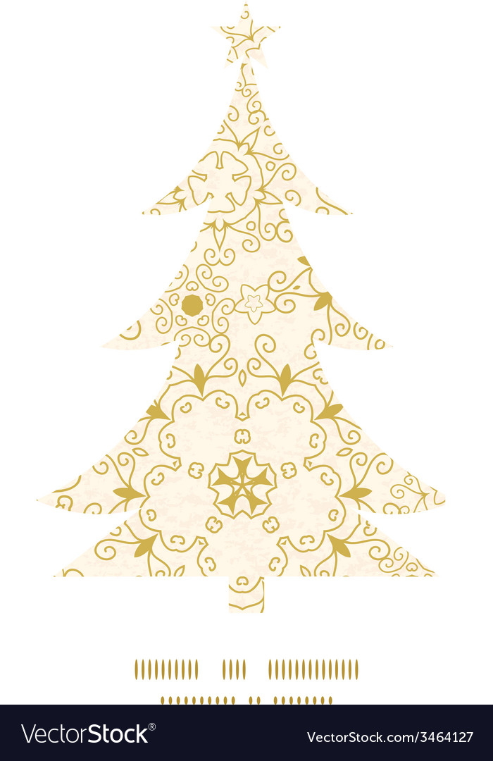 Abstract swirls old paper texture christmas tree vector | Price: 1 Credit (USD $1)