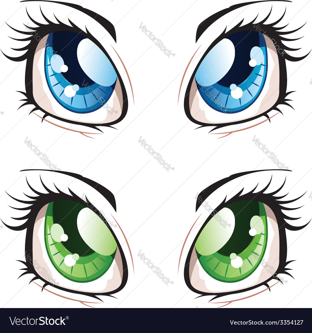 Anime style eyes2 vector | Price: 1 Credit (USD $1)