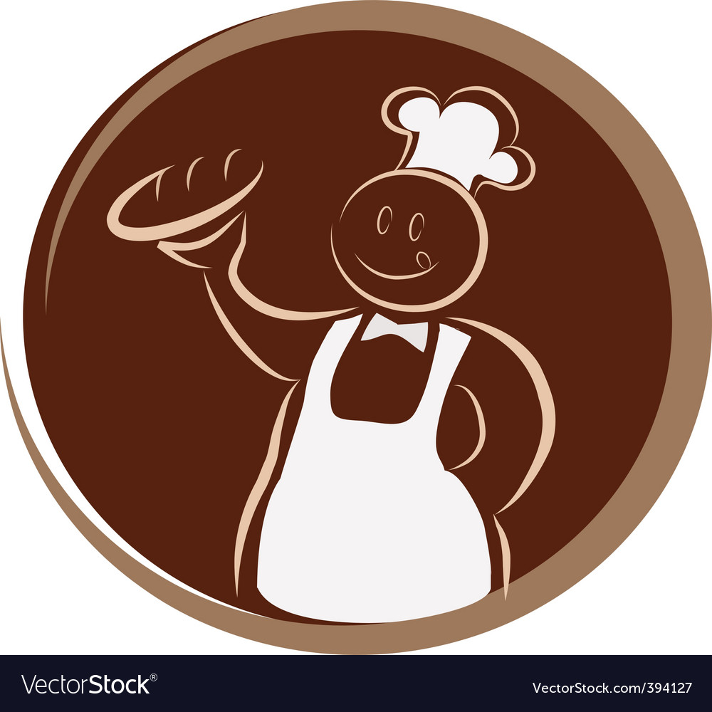 Bakery chef vector | Price: 1 Credit (USD $1)