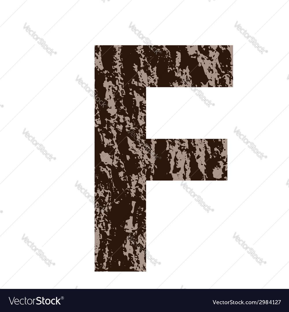 Bark letter f vector | Price: 1 Credit (USD $1)