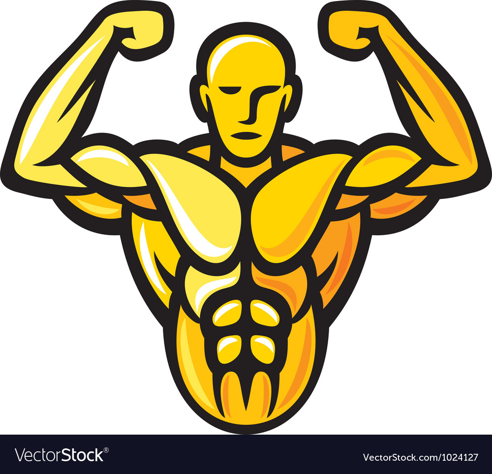 Bodybuilder vector | Price: 1 Credit (USD $1)