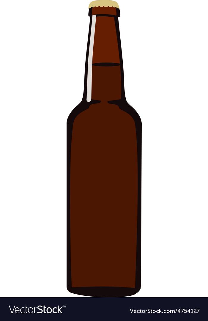 Brown beer bottle vector   Price: 1 Credit (USD $1)