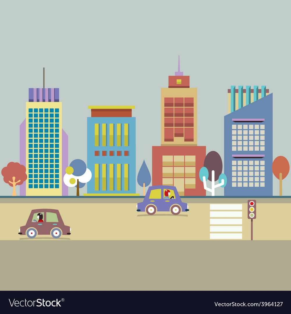 Buildings in the city vector | Price: 1 Credit (USD $1)