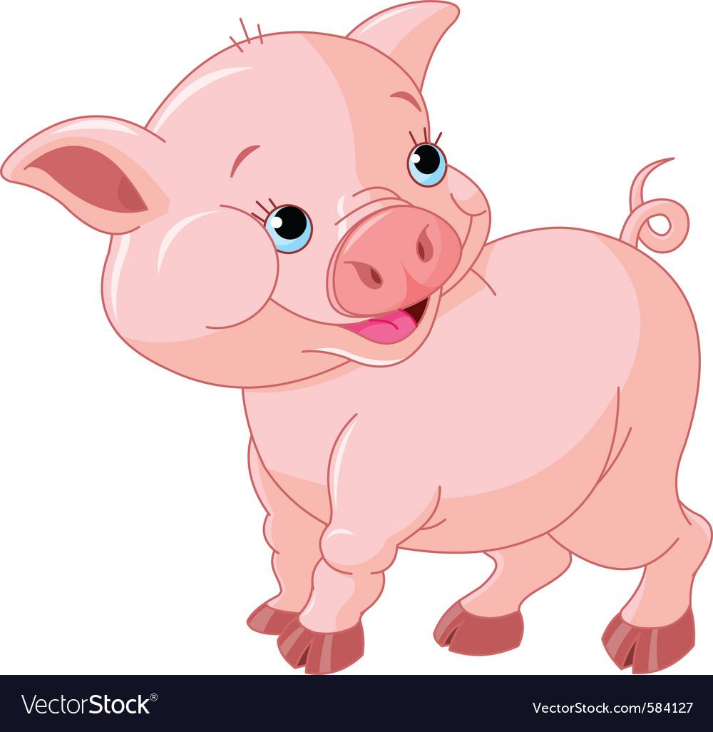 Cartoon pig vector | Price: 3 Credit (USD $3)