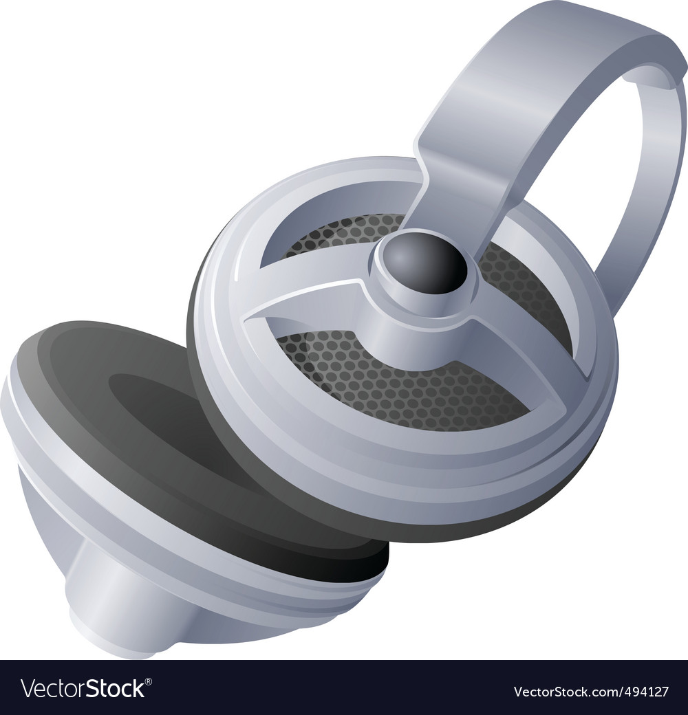 Music earphone vector | Price: 1 Credit (USD $1)
